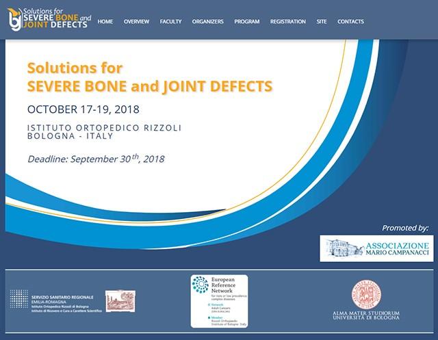 Associazione Campanacci organizza il corso Solution Severe Bone and Joint Defects
